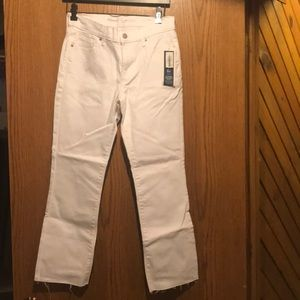 Ankle Stay white jeans New with tags